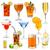 coleção · diferente · bebidas · verão · festa · óculos - foto stock © grafvision