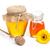 miele · due · legno · fiori · vetro · sfondo - foto d'archivio © grafvision