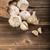 sarımsak · çanta · arka · plan · tablo - stok fotoğraf © grafvision