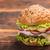 grande · burger · queijo · cola · branco · vidro - foto stock © grafvision