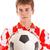 piłkarz · piłka · odizolowany · biały · piłka · nożna - zdjęcia stock © grafvision