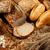 válogatás · különböző · kenyér · friss · ropogós · kenyeres · kosár - stock fotó © grafvision