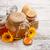 honing · jar · honingraat · vloeibare · Geel - stockfoto © grafvision