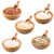 természetes · barna · rizs · fából · készült · merítőkanál · fehér - stock fotó © grafvision