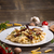 makaronu · grzyby · ser · żywności · kuchnia · tablicy - zdjęcia stock © grafvision