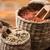 merítőkanál · vad · rizs · fekete · rusztikus · fából · készült - stock fotó © grafvision
