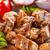 köteg · fából · készült · tányér · étel · hagyma · egészségtelen - stock fotó © grafvision