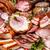 sós · disznóhús · közelkép · háttér · zöld · csoport - stock fotó © grafvision