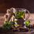 té · de · hierbas · vidrio · taza · frescos · menta · hojas - foto stock © grafvision