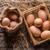 vers · boerderij · eieren · hooi · tabel · Blauw - stockfoto © grafvision