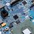integrált · mikrocsip · mikroprocesszor · kék · nyáklap · számítógép - stock fotó © grafvision