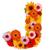 花 · 手紙 · アルファベット · 孤立した · 白 · 学校 - ストックフォト © grafvision