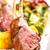 grelhado · cordeiro · costelas · servido · batata · fresco - foto stock © grafvision