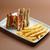 поджаренный · трехслойный · бутерброд · фри · продовольствие · клуба · сыра - Сток-фото © grafvision