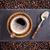 beker · koffie · bonen · bruin · top - stockfoto © grafvision