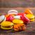 francés · frambuesa · macarons · menta · hojas · edad - foto stock © grafvision