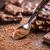 pó · chocolate · escuro · tabela · madeira · chocolate · agricultura - foto stock © grafvision