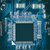 Microprocessor on blue circuit board  stock photo © grafvision