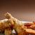 marinált · tyúk · hús · csíkok · serpenyő · fém - stock fotó © grafvision
