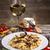 makaronu · ser · sos · obiedzie · krem · posiłek - zdjęcia stock © grafvision