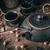 csendélet · öntöttvas · teáskanna · kicsi · csészék · fából · készült - stock fotó © grafvision