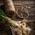 groene · knoflook · bos · houten · textuur · keuken - stockfoto © grafvision