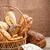 パン · 食品 · チョコレート · 背景 · ケーキ - ストックフォト © grafvision