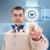 Корзина · кнопки · деловой · человек · футуристический · цифровая · технология - Сток-фото © grafvision