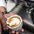 barista · süt · sıcak · makine · kadın - stok fotoğraf © grafvision
