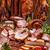 gerookt · varkensvlees · vlees · salami · worstjes - stockfoto © grafvision
