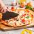 pizza · jambon · mantar · domates · tablo · pişirme - stok fotoğraf © grafvision