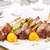 焼き · リブ · ジャガイモ · プレート · 食品 · ディナー - ストックフォト © grafvision