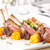 grillezett · bárány · borda · tányér · konyha · BBQ - stock fotó © grafvision