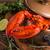 geheel · Rood · kreeft · hout · zee · diner - stockfoto © grafvision