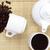 kávéscsésze · eszpresszó · bab · oldal · sötét · pörkölt - stock fotó © grafvision