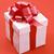 kutu · kırmızı · saten · şerit · yay · hediye - stok fotoğraf © grafvision