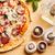 egész · sült · pizza · fa · deszka · sajt · vacsora - stock fotó © grafvision