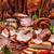 carne · produtos · cozinhado · salsichas · velho · tabela - foto stock © grafvision