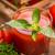sok · pomidorowy · szkła · bazylia · tle · pić - zdjęcia stock © grafvision