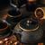 vasaló · teáskanna · csészék · tea · hagyományos · fából · készült - stock fotó © grafvision