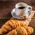 kávé · croissant · idő · reggeli · étel · csésze - stock fotó © grafvision