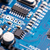 kék · mikrocsip · elektronikus · közelkép · részlet · nyáklap - stock fotó © grafvision