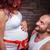 feleség · férj · tart · babacipők · terhes · kicsi - stock fotó © grafvision