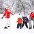 冬 · 楽しい · カップル · 雪玉 · 戦う - ストックフォト © grafvision