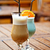 コーヒー · 青 · カクテル · 務め · レストラン · 表 - ストックフォト © grafvision