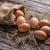 świeże · brązowy · jaj · drewna · starych · cyna - zdjęcia stock © grafvision