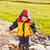 gyermek · csobbanás · sáros · pocsolya · szórakozás · víz - stock fotó © grafvision