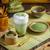 zöld · tea · ital · üveg · bögre · habaró · étel - stock fotó © grafvision