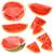 ingesteld · watermeloen · geïsoleerd · witte · vruchten · groene - stockfoto © grafvision