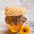 miele · vetro · pot · completo · legno · legno - foto d'archivio © grafvision